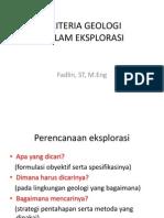 Kriteria Geologi GT 3 2013