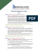 decreto numero 23-2001 reformas al codigo penal