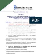 decreto número 34-2001 reformas a la ley de contrataciones d