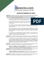 decto 62-2001 reformas a la ley del iva