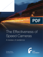The Effectiveness of Speed Camera