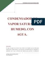 condensador de Vapor Saturado -Agua