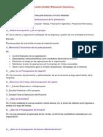 Guía Examen Unidad I Planeación Financiera