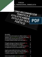 ANÁLISE DE TEXTOS POÉTICOS