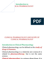 Clinical Pharmacology Introduction