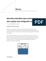 Describe Saturated Vapor Pressure and Also Explain How Refrigerator Works_ _ EDUCATION for ALL