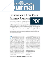 [MWJ0501] Lightweight, Low Cost Printed Antenna Arrays