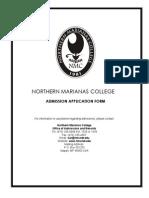 NMC - Admission Application