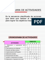 Clase 14- Cronograma de Actividades