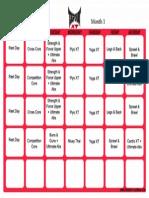 Tapout XT Schedule Month 1