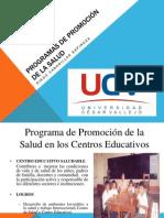 PROGRAMAS DE PROMOCIÓN DE LA SALUD