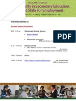 Regional Seminar 2013 Program