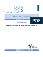 GUIDE-MQA-001-008 (Preparation of a Site Master File)