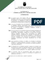 Aprobacion Proyecto Ley Regimen rio Interno