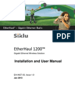 Siklu EH-1200 Install & User Manual - EH-InSTL-03_Issue1 (Jan2013)