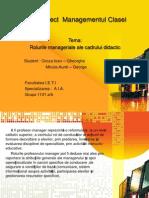 Rolurile Manageriale Ale Cadrului Didactic - Copy