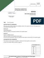 Chemistry June 2002 - Paper 2