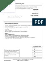 Chemistry June 2004 - Paper 2
