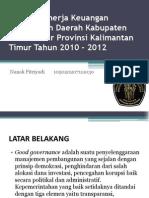 Analisis Kinerja Keuangan Pemerintah Daerah Kabupaten Kutai Timur