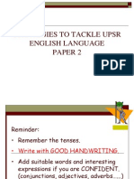 Strategies on English Paper 2