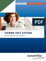 Vienna Test System 2011 en Catalog SCHUHFRIED