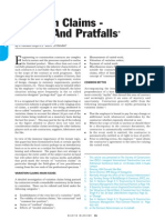 Variation Claims-pitfalls & Pratfalls