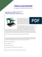 Cara Install Windows Dari Flash Disk