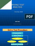Driving Test & Analysis