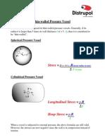 Pressure Vessel Formulas