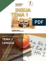 Tema 1 de Lengua