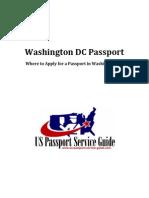 Washington DC Passport - Applying for a Passport in Washington DC