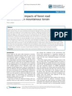 Environmental Impacts of Forest Road