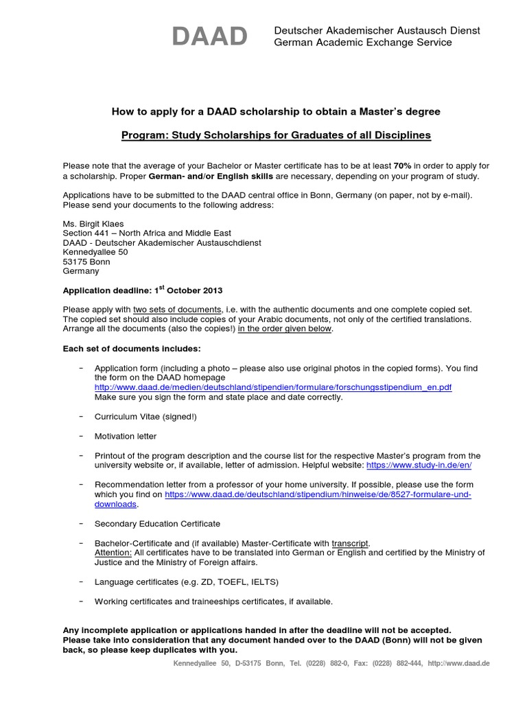How to apply for a daad scholarship to obtain a masters degree how to apply for a daad scholarship to obtain a masters degree masters degree german language spiritdancerdesigns Images