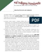 Posicion Politica de Los Pueblos Indigenas (MNIH)