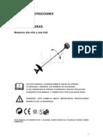 Manual Desbrozadora Blki 430