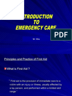 Principles of First Aid