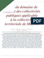 Domaine Etat Mayotte