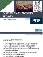 Tema 1. CAMBIOS EN EL ANTIGUO RÉGIMEN