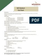 M S Darakum Movenpick Nile Fact Sheet