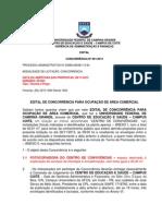Edital CES de Concorrência Nº 001_2013 - Permissão de uso de Fotocopiadora no Centro de Convivência do CES