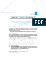 Appendix 1-Proofs in Mathematics
