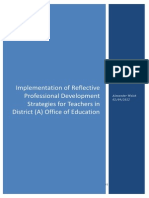Implementation of Reflective Practice Strategies