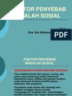 1-Faktor Penyebab Masalah Sosial