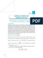 Ch 6-Applications of Derivatives