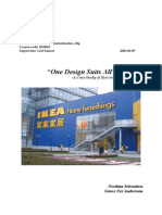 Ikea Globalization Strategies and Its Foray in China