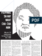 One Voice full page ad on Charter Change