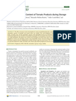 Changes in Phenolic Content of Tomato Products During Storage