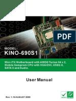 Kino 690s1 Manual