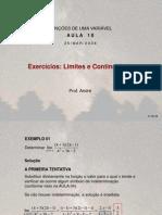Cálculo Diferencial e Integral (FUV) - Aula 10