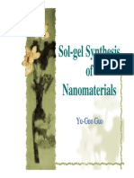 Sol gel Synthesis of Nanomaterials